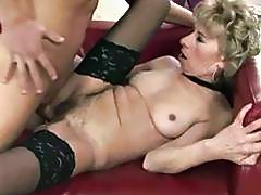 Naughty granny fucking with young man