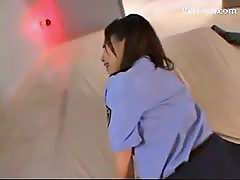 Police Woman Getting Her Pussy Fucked Getting Facial At The Office